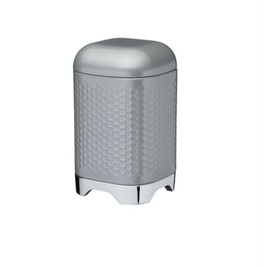 Lovello Retro Storage Jar with Geometric Textured Finish - Shadow Grey