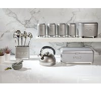 Lovello Textured Steel Cake Tin - Shadow Grey