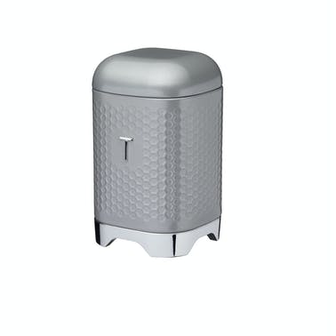 Lovello Retro Tea Canister with Geometric Textured Finish - Shadow Grey