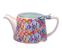 London Pottery Kaffe Fassett Oval® Filter Teapot with Infuser (Patchwork)