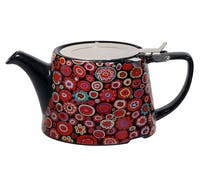 London Pottery Kaffe Fassett Oval® Filter Teapot with Infuser (Paperweight Gypsy)