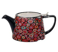 London Pottery Company Kaffe Fassett Oval-Filter Teapot with Infuser (Paperweight Gypsy)