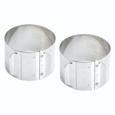 MasterClass Stainless Steel Adjustable Cooking Rings