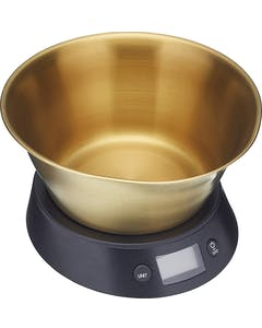 Photo of MasterClass Electronic Dual Dry and Liquid Scales with Brass Finish Bowl