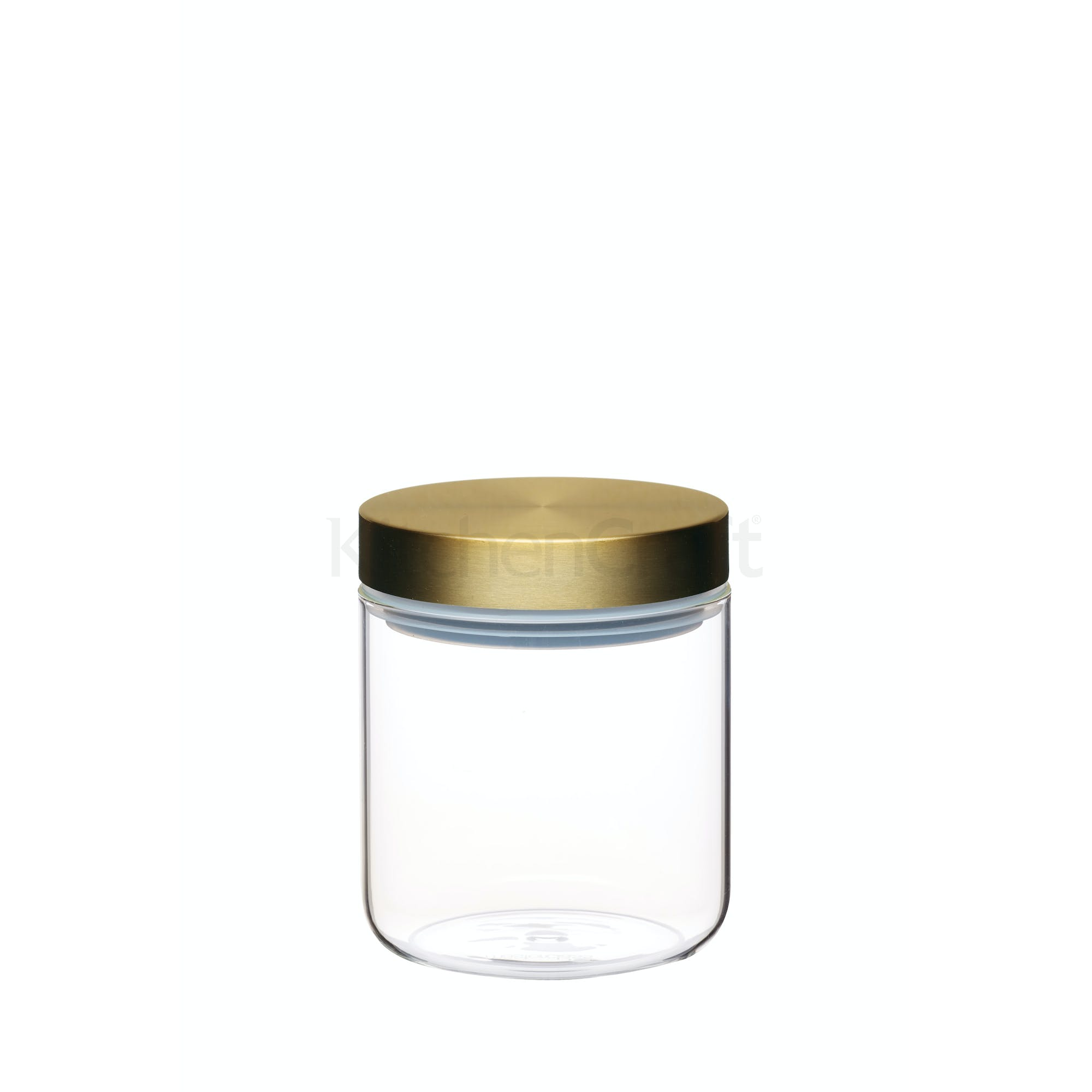 Small Gl Food Storage Jar With Br Lid Image