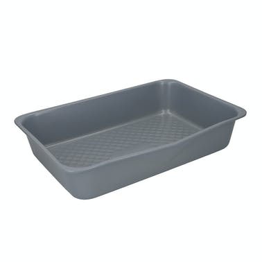 MasterClass Smart Ceramic Gift Boxed Set of 2 Large Deep Roaster Trays, Carbon Steel, Grey
