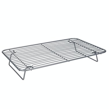MasterClass Smart Ceramic Roasting / Cooling Rack, Carbon Steel Wire, Grey, 35.5 x 23cm
