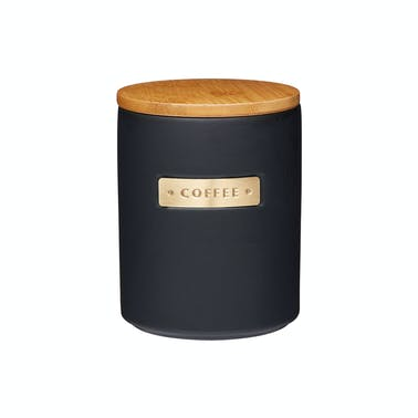 MasterClass Stoneware and Brass Effect Coffee Canister with Airtight Bamboo Lid