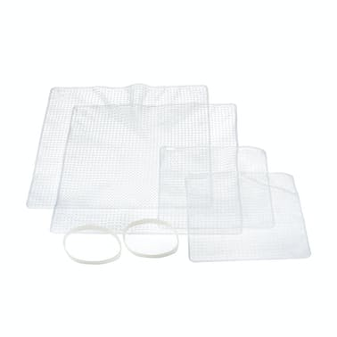 MasterClass Silicone Stretch Lids, 4 Piece Set of Assorted Food Covers
