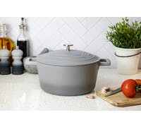 MasterClass Lightweight 4 Litre Casserole Dish with Lid - Ombre Grey