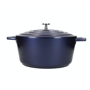 MasterClass Large 5 Litre Casserole Dish with Lid - Metallic Blue