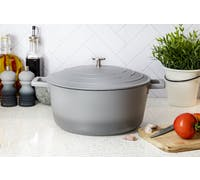 MasterClass Large 5 Litre Casserole Dish with Lid - Ombre Grey