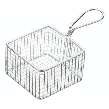MasterClass Mini Deluxe Stainless Steel Square Fry Basket