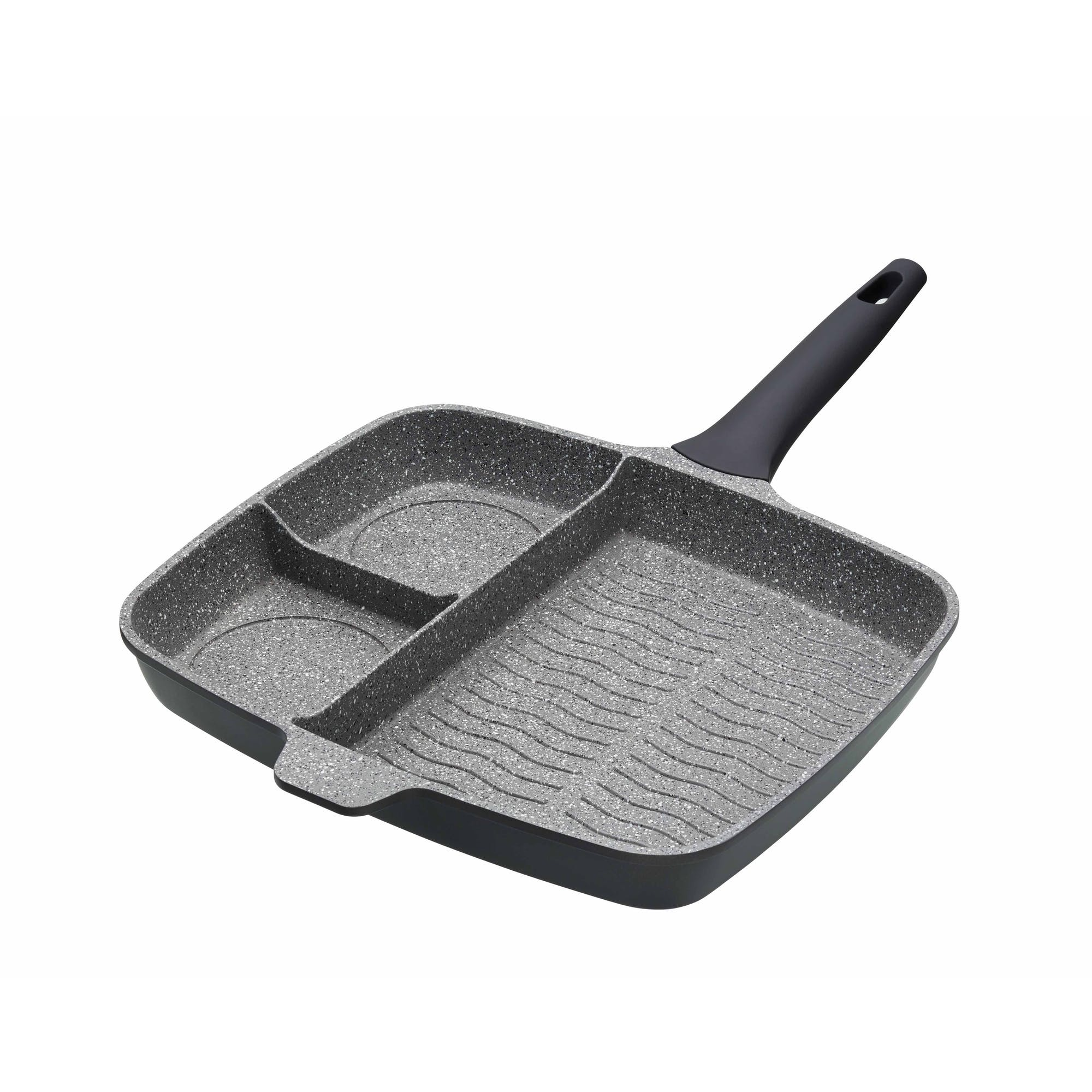 Masterclass Cast Aluminium Three Section Grill Pan Cast Aluminium