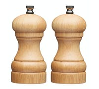 MasterClass Filled Wood Capstan Salt and Pepper Mill Set