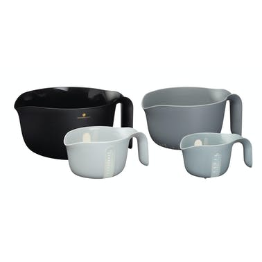 MasterClass Smart Space Mixing Bowl Set with Colander and Measuring Jug