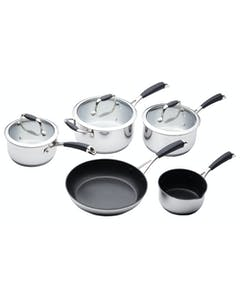 Photo of MasterClass 5 Piece Deluxe Stainless Steel Cookware Set