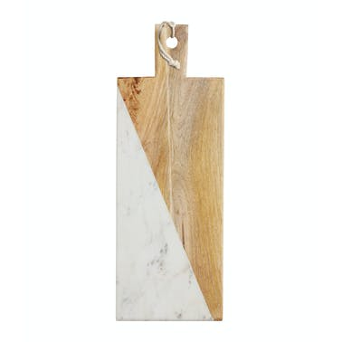 MasterClass Gourmet Prep & Serve Wood & Marble Paddle Board