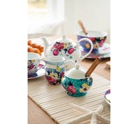 Mikasa Clovelly Porcelain Sugar Bowl and Creamer Set