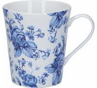Mikasa Hampton Porcelain 330ml Blue Flower Conical Mug