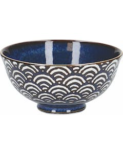 Photo of Mikasa Satori 11.5cm Porcelain Seigaiha Wave Miso Serve Bowls