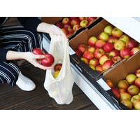 KitchenCraft Natural Elements Eco-Friendly Set of Three Drawstring Produce Bags