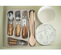 KitchenCraft Natural Elements Eco-Friendly Bamboo Fibre Cutlery Tray