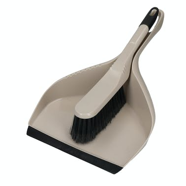 KitchenCraft Natural Elements Eco Friendly Dustpan and Brush, Grey, 23 x 37cm