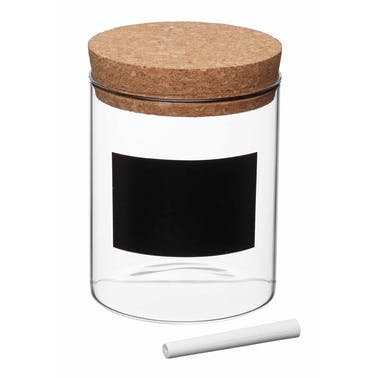 KitchenCraft Natural Elements Eco-Friendly Small Glass Storage Canister