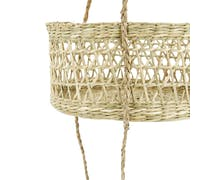 Natural Elements 2-Tier Seagrass Hanging Planter