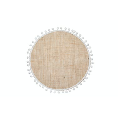 KitchenCraft Natural Elements Hessian Placemats, Set of 4 Woven Jute Round Table Mats, 38cm