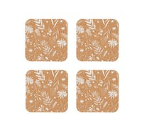 KitchenCraft Natural Elements Set of 4 Biodegradable Cork Coasters, 12 x 12cm