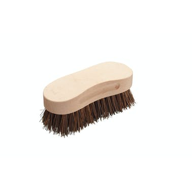 KitchenCraft Natural Elements Coconut Husk Scrubber Brush with Wooden Handle, 16 x 6 x 5cm