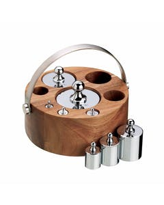 Photo of KitchenCraft Natural Elements 8 Piece Imperial Weight Set with Wood Stand