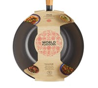 KitchenCraft World of Flavours Oriental Carbon Steel 20cm Non-Stick Wok