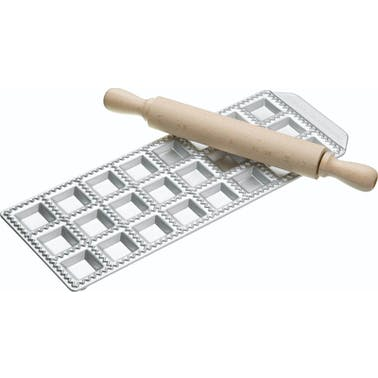Imperia 24 Hole Ravioli Tray and Rolling Pin