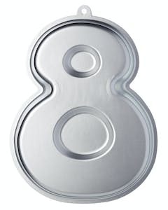 Photo of Sweetly Does It Silver Anodised Number Eight Shaped Cake Pan