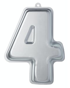 Photo of Sweetly Does It Silver Anodised Number Four Shaped Cake Pan