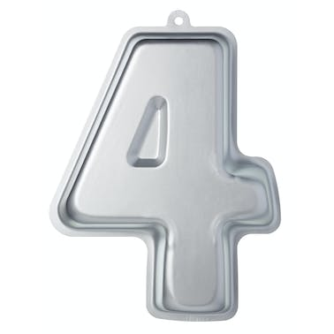 Sweetly Does It Silver Anodised Number Four Shaped Cake Pan