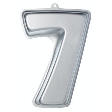 Sweetly Does It Silver Anodised Number Seven Shaped Cake Pan