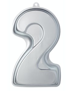 Photo of Sweetly Does It Silver Anodised Number Two Shaped Cake Pan
