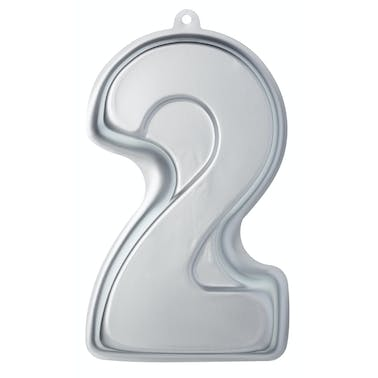 Sweetly Does It Silver Anodised Number Two Shaped Cake Pan