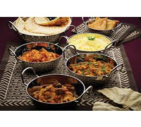 KitchenCraft World of Flavours Indian Stainless Steel Large Balti Dish