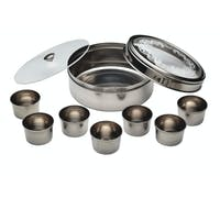 KitchenCraft World of Flavours Indian Stainless Steel Masala Dabba