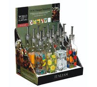 KitchenCraft World of Flavours Italian Display of 12 Oil and Vinegar Drizzlers