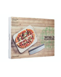 Photo of KitchenCraft World of Flavours Italian Large Pizza Stone & Cutter