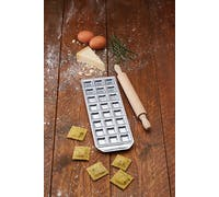 KitchenCraft World of Flavours Italian Mini Ravioli Tray with Rolling Pin