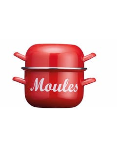 Photo of KitchenCraft World of Flavours 2.5 Litre Red Enamel Mussel Pot