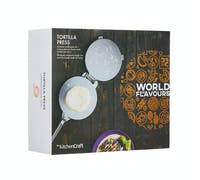 KitchenCraft World of Flavours Mexican Tortilla Press