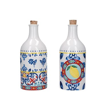 KitchenCraft World of Flavours 500ml Ceramic Oil and Vinegar Bottle Set